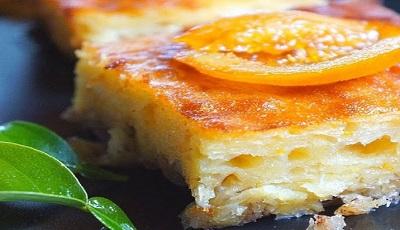 portokalopita (Torta di arancia con pasta kataifi)